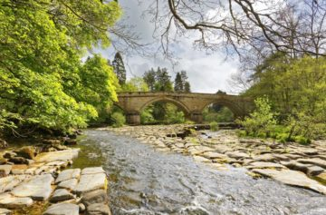 CUPOLA BRIDGE - RIVER ALLEN - STAWARD GORGE - NORTHUMBERLAND - AB852