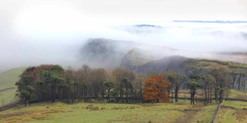 HW609.1 WINSHIELDS CRAGS HADRIAN'S WALL NORTHUMBERLAND