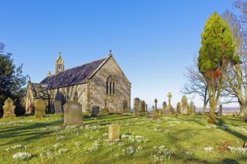 EHW912F ST OSWALD'S CHURCH, HEAVENFIELD, NORTHUMBERLAND