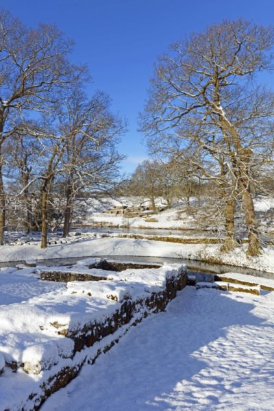 HW104D BRIDGE AT CHESTERS ROMAN FORT, HADRIAN'S WALL, NORTHUMBERLAND